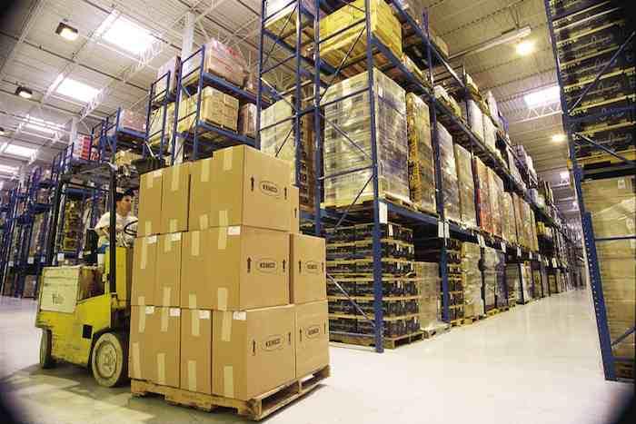 magazzino di logistica